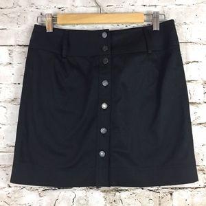 Philosophy di Alberta Fer Black Button Mini Skirt